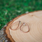Copper Droplet Hoop Earrings