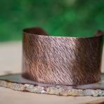 Rustic Bark Copper Cuff
