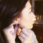 Silvery Bar Earrings