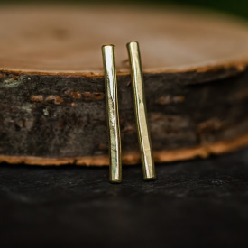 Brassy Lines Earrings