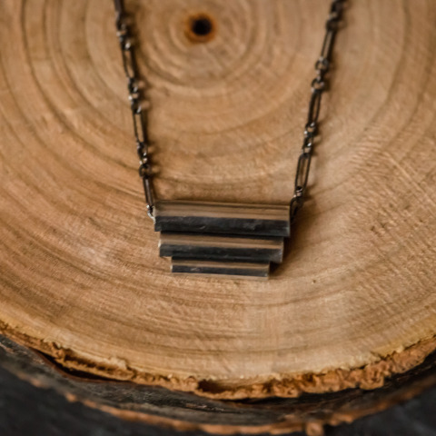 Three-Tiered Tube Necklace