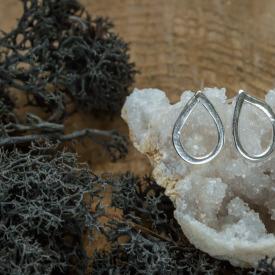 Silver Drop Studs