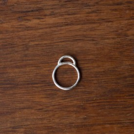 Mound Hill sterling stacker ring