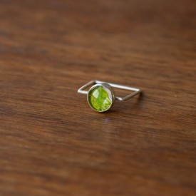 Mossy Realm Sterling Ring